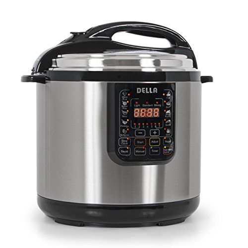 12 Quart 1600 Watt Electric Pressure Cooker Multi-Functional Timer Slow Cook NEW