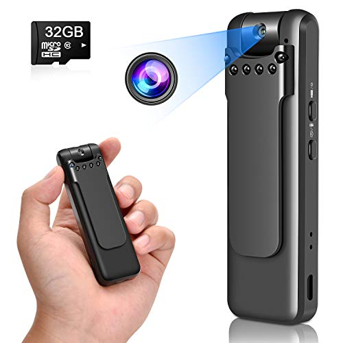 Personal Body Camera - Camera Video Recorder -Mini Nanny Wearable Cam - Camera Motion Activated and Night Vision - Easy to Use Camera 1080P for Home and Office(with 32G Card)
