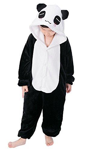 Pijama Kiguruma - Mono de noche para disfraz de nio, unisex panda 115 cm (125/134 cm)