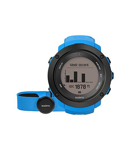 Suunto - Ambit3 Vertical HR - SS021968000 - Reloj GPS Multideporte + Cinturón de frecuencia cardiaca (Talla M) - Ideal para montaña - Azul