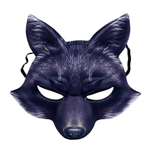 BESTOYARD Fuchs halbe Gesichtsmaske unheimlich tierkostüm Maske zubehör für männer Erwachsene Halloween Party favorisiert