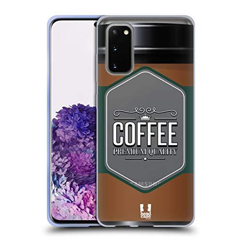 Head Case Designs Kaffeetasse Lebenswichtige Güter Soft Gel Huelle kompatibel mit Samsung Galaxy S20 / S20 5G
