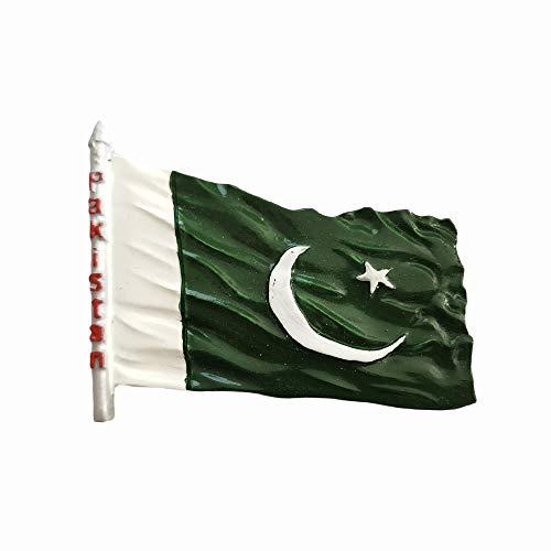 Pakistan-Flagge, 3D-Souvenir, Kühlschrankmagnet, Geschenk, handgefertigt, Heim- & Küchendekoration, Pakistan-Kühlschrank-Magnet-Kollektion
