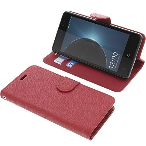foto-kontor Tasche für Leagoo Z6 Book Style rot Schutz Hülle Buch