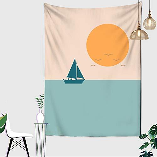 Tapiz Montaña puesta de sol paisaje abstracto ilustración pared colgante arte colcha ropa de cama manta sábana estera de Yoga boho mandala decoracion pared 150x200cm/59*79inches