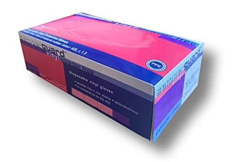 Vinyl Handschuhe Größe M 100 Stück weiß/Natur in praktischer Spendebox