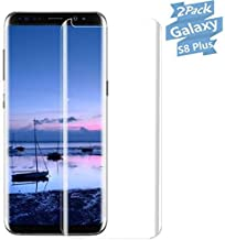 [2-Pack] Compatible Galaxy S8 Plus Tempered Glass Screen Protector [Anti Fingerprint] Screen Protector Compatible Samsung Galaxy S8 Plus