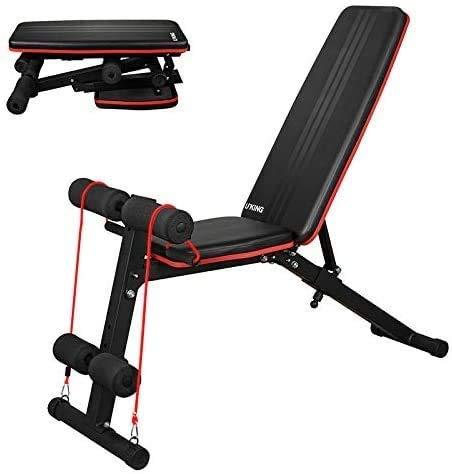 Banco de pesas ajustable Morfit Banco de ejercicios plegable para levantamiento de pesas Sit Up Abs Bank Flat Incline Decline para entrenamiento de fuerza en el gimnasio en casa (almacén en Alemania)