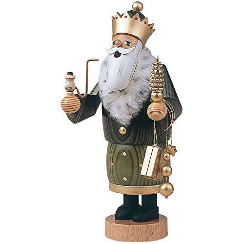 German Incense Smoker The 3 Wise Men - Balthasar - 22 cm / 8 inch - Authentic German Erzgebirge Smokers - KWO