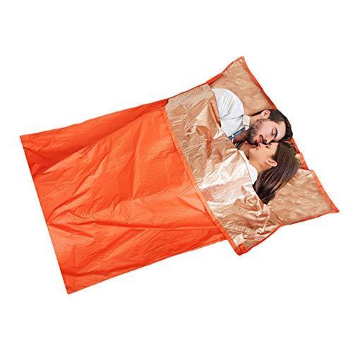 Saco de dormir de emergencia, saco de dormir de supervivencia, ligero impermeable térmica Bivvy bolsa de emergencia manta para acampar al aire libre y senderismo