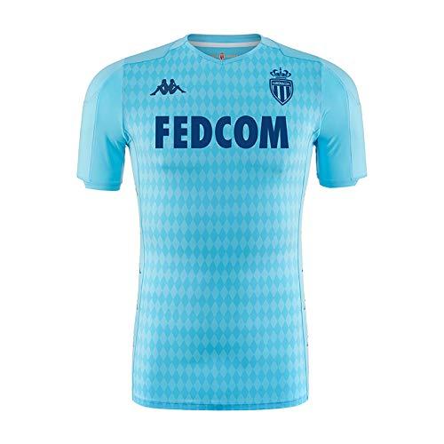 Kappa Camiseta De Juego Oficial Third As Mónaco, Unisex Adulto, Azul, XL