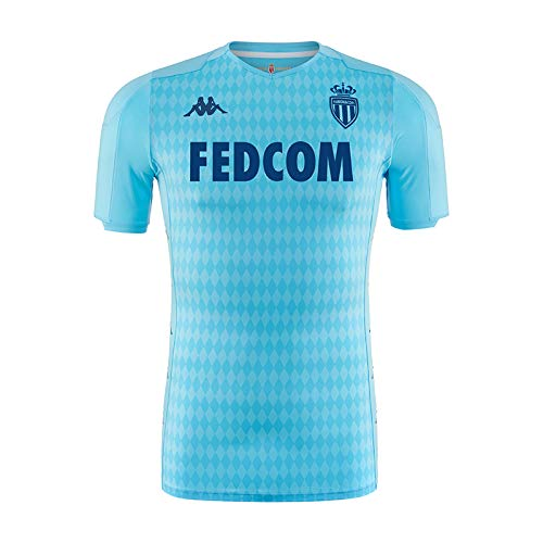 Kappa Fußballtrikot Third As Monaco, Kinder Einheitsgröße blau