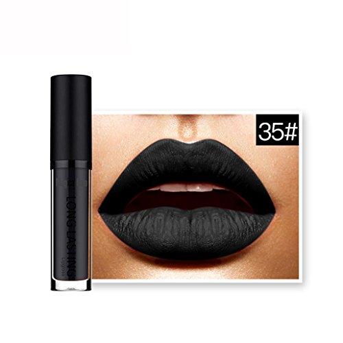 ESAILQ 6ML Wasserdichter Matte Liquid Lipstick Langlebiger Lip Gloss Lippenstift … (E)