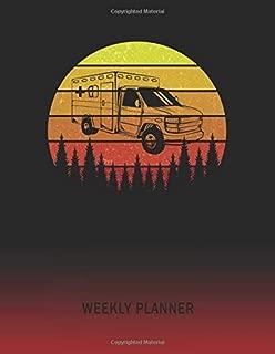 Weekly Planner: Ambulance Van | 2020 - 2021 | Plan Weeks for 1 Year | Retro Vintage Sunset Cover | January 20 - December 20 | Planning Organizer ... | Plan Days, Set Goals & Get Stuff Done