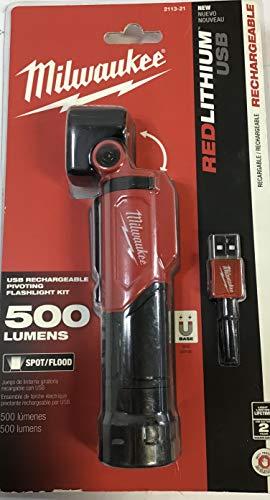 Milwaukee USB Rechargeable Pivoting Flashlight Kit