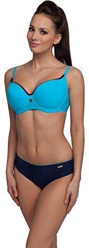aQuarilla Damen Bikini Set R3N2LL1 (Blau/Navy, Cup 75 G/Unterteil 40)