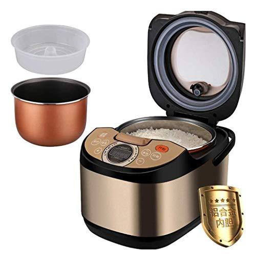 DZX Cuiseur à Riz Ragoût 5L Multi Steamer Low Removal Sugar Inner Pot Digital Intelligent Programmable Saute Health Grain Maker 24 Heures préréglé, Multi Cooker
