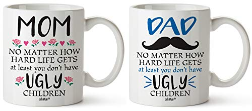 Christmas Dad and Mom Family Gift Bundle of 2 Gifts For Dad Mom From Daughter Son Birthday Gift Mug...