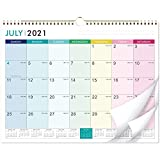 2021-2022 Calendar - 18 Monthly Wall Calendar with Thick Paper, 14.6' x 11.5', Jul. 2021 - Dec. 2022, Twin-Wire Binding + Hanging Hook + Unuled Blocks with Julian Date, Horizontal - Colorful Lump