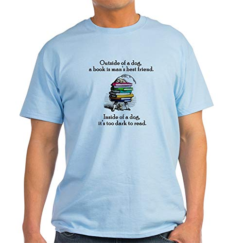 CafePress A Book is Man's Best Friend Light T Shirt 100% Cotton T-Shirt