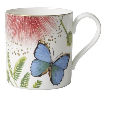 Villeroy & Boch Amazonia Kaffeetasse, edler Kaffeebecher aus Premium Bone Porzellan im Design des farbenfrohen Regenwaldes, spülmaschinenfest, 210 ml