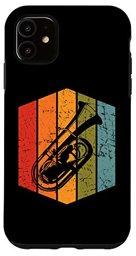 iPhone 11 Retro Tuba Player Gift Musician Tubist Vintage Tuba Case