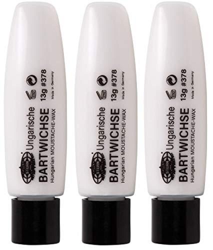 3er Ungarische Bartwichse farblos Moustache Wax Stern Bremen 13 g