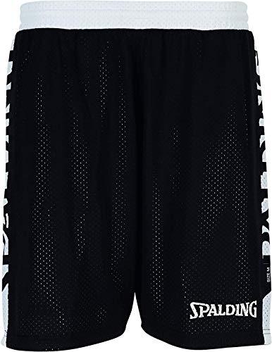 Spalding Damen Essential Reversible Shorts 4HER Hose, Schwarz/Weiß, M