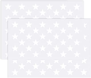 6 Pack LLGLTEC American Flag Stencil Stars Flying American Flag Stencil Template for Painting on Wood Glass and Wall Art Reusable 4th of July Patriotic Party Decorations Supplies Fabric Paper