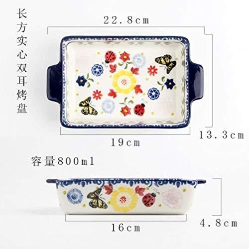 Pun Keramische bakplaat magnetron gedroogde fruitplaat fruitschaal huishoudelijke rijstschotel bakken pizza schotel set