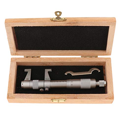 FLAMEER Herramienta Medición Métrica de Precisión Calibrador de Micrómetro Interior - Blanco 50-75mm