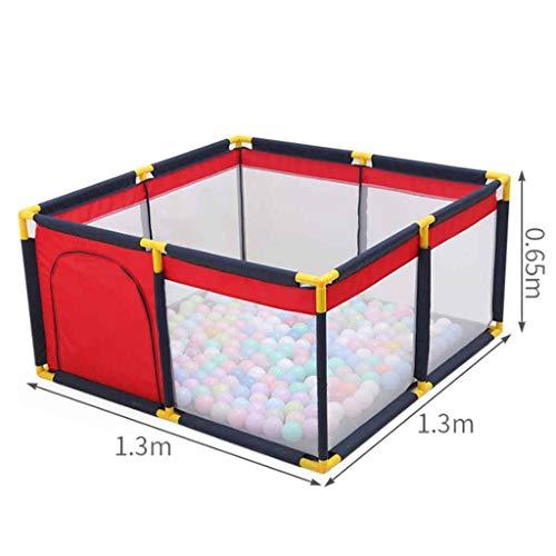 Kinderspiel Zaun Laufgitter Extra großer Baby-Laufstall, Indoor Outdoor Playard, Tragbarer Schutzzaun für Kleinkinder, 130 × 190 × 65 cm (Size : 1.3 * 1.3 * 0.65m)