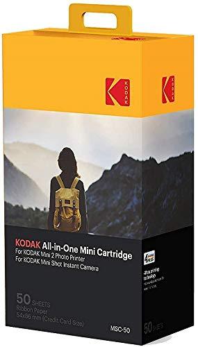 Kodak Mini 2 Photo Printer Cartridge MC All-in-One Paper and Color Ink Cartridge Refill - Compatible with Mini Shot Camera, Mini 2 Printer (Not Original Mini) 50 Pack (Packaging may vary)