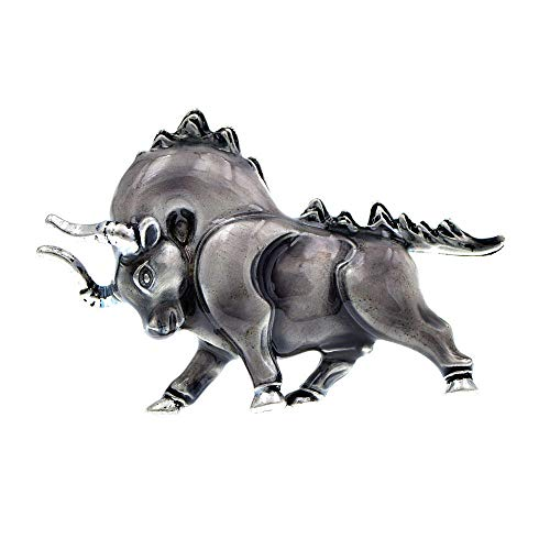 GLKHM Women's Brooches & Pins Brooch Women and Men Unisex Brooches Animal Pin Cattle Accessories-2_4.8 * 3.2Cm