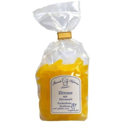 Zuckerfreie Zitronen Bonbons mit Zitronenöl, 120g