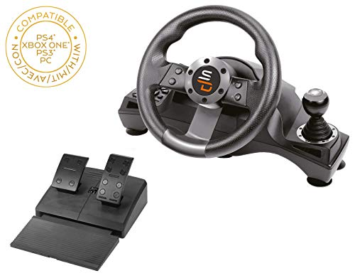 Superdrive - Volante Racing Drive Pro GS700 con leva del cambio, pedali e vibrazioni per PS4 - Xbox One - PC e PS3
