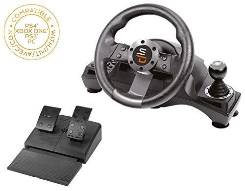 Superdrive - Volante de carreras Drive Pro GS700con palanca de cambios, pedales y vibraciones para PS4 - Xbox One - PC y PS3