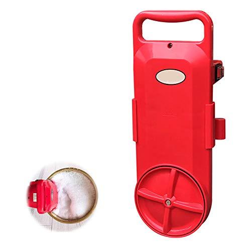 LNLN Mini draagbare wasmachine huishouden 15 minuten emmer kleding wassen wandbehang wasmachine reinigingsgereedschap camping trip slaapzaal 220 V rood