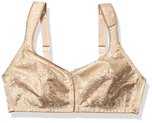 Just My Size Women's Front Close Soft Cup Plus Size Bra (1107), Nude, 44D