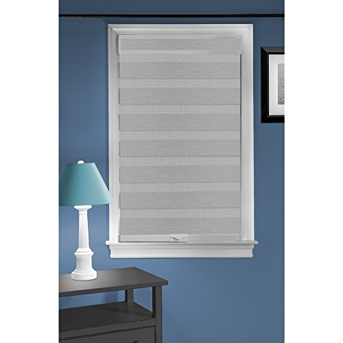 Achim Home Furnishings Cordless Celestial Sheer Double Layered Window Shade, 30' x 72', Grey