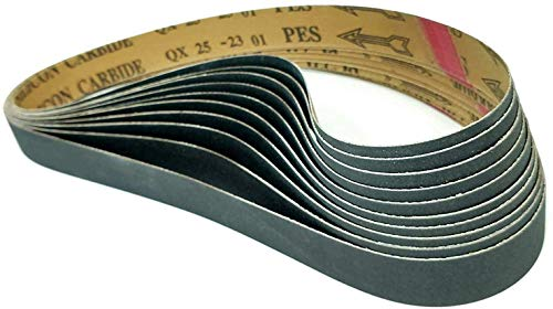1x42-120 Grit 10 Pack - Premium Silicon Carbide Knife Sharpening Belts Made in USA