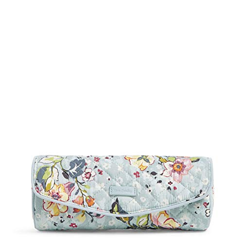 Vera Bradley Signature Cotton On a Roll Makeup Brush & Pencil Case, Floating Garden