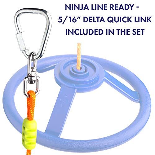 41qzUElVZVL. SL500  - Cateam Rueda giratoria Ninja Line con articulación giratoria de 360 grados y mosquetón ninjaline, accesorio giratorio de 360 grados para tu carrera de obstáculos