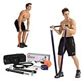 Tikaton Resistance Bar Portable Home Gym, Weightlifting Training Kit, Full Body Workout Equipment,...