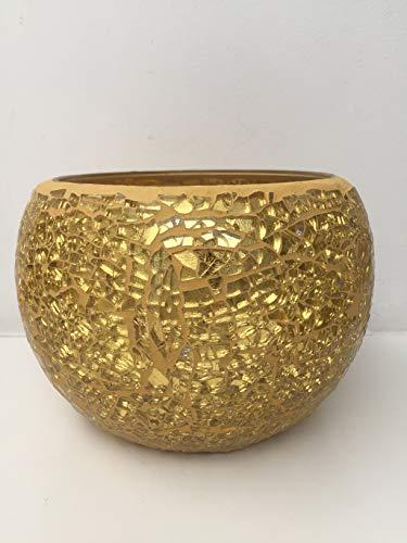 SIA Vase Mosaico Gold Durchmesser 15 cm - h 13 cm