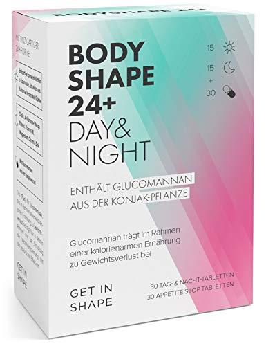 BODYSHAPE 24 Plus - Day and Night Tabletten + Appetite Stop Tabletten, mit Grüntee-Extrakt, Grüner Kaffee, Kurkuma, Glucomannan etc. von Get in Shape