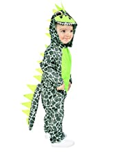 Disfraz de Dinosaurio bebé, Niños con Capucha Mono de dragón Mameluco, Pijamas de Animales de Talla única 19-24mes