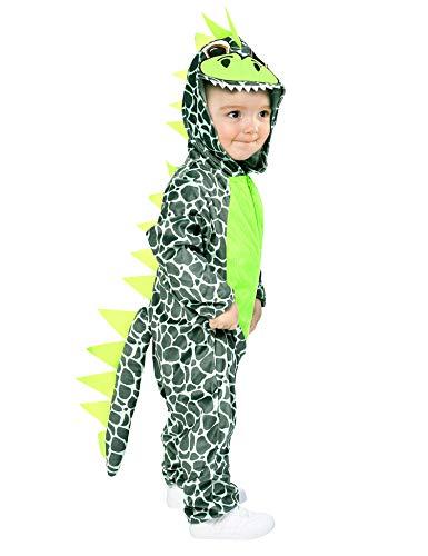 IKALI Dinosaurier Kostüm für Baby, Kinder Hooded Drachen Strampler Overall, Tier One-Size-Pyjama 6-12