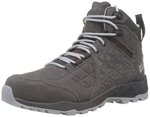 Jack Wolfskin Damen Cascade Hike LT Texapore MID W Trekking- & Wanderstiefel, Grau (Dark Steel/Phantom 6056), 37 EU