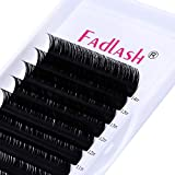 Lash Extensions FADLASH Eyelash Extensions C/D Curl Lash Tray Classic Lash Extensions 0.20 8-20mm Length Supply Silk Lashes (0.20-C, Mix Tray 8-14mm)